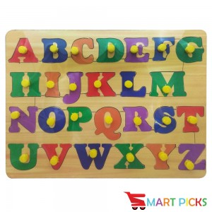Smart Picks Wooden Colorful Learning Educational Puzzle Board for Kids With Knobs, Educational Learning Wooden Board Tray, SIZE- 28 X 21 CM, Available in 10 Different Variants