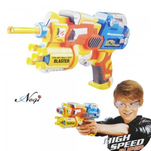 Negi Blaze Storm Soft Bullet Gun Automatic Gun Toy with 6 Safe Foam Bullets_ Multi-color (BS3)