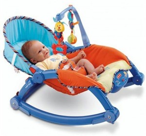 Saffire Newborn To Toddler Portable Rocker, Multi Color