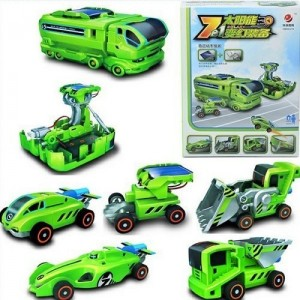 Negi 7 in 1 Chargeable Solar Educational Toy Solar DIY Robot Kit , Multi Color