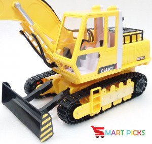 Smart Picks 16 Channel Heavy Duty Rechargeable JCB Truck with Smoke, Vibration, Sound and Lights ( Rechargeable Battery and Charger Included) (1:20)