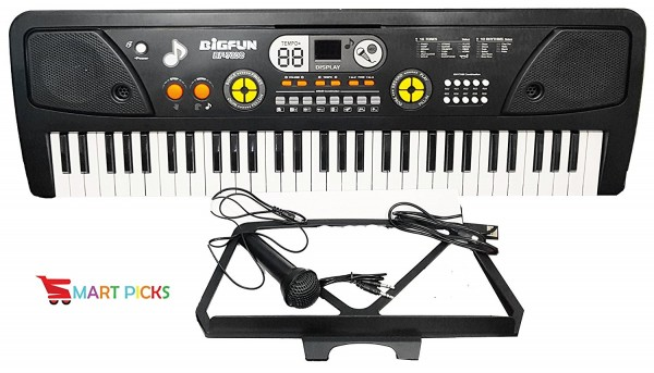 Smart Picks 61 Keys Electronic Piano Keyboard with Display and